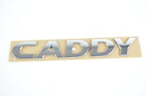 2K5853687 I VW CADDY Schriftzug Emblem  Logo selbstklebend 17 x 2,5cm chrom Heck