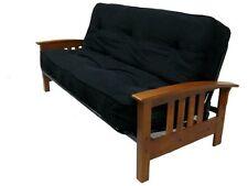 Black Futon Mattress 8-Inch Full Size Premium Plush Soft Microfiber Bed Comfort