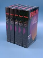 RCA VHS T120 Lot Of 5 6 Hour SLP Hi-Fi Recordable Video Tapes Brand New (Sealed)