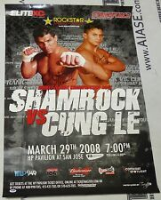 Frank Shamrock & Cung Le Signed 2008 StrikeForce MMA Poster PSA/DNA COA UFC Auto