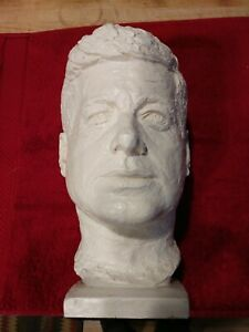 Vintage 1964 Austin Productions Inc. JOHN F. KENNEDY HEAD BUST Sculpture Statue