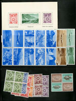 Switzerland Stamp Trial Print Lot NH on Page