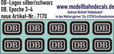 10 DB-Logos (Keks) Spur 1 schwarz/silber - Decals NEU 032-7170