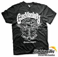 Gas Monkey Garage T-shirt officiel Kyd GMG Hot Rod V Neck Logo lat/éral