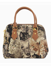 CAT TOP-HANDLE SHOULDER BAG SIGNARE TAPESTRY CANVAS WOMEN LADIES HANDBAG PRESENT