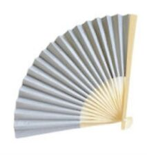 GREY Paper Fan Beach Wedding Fans Favors