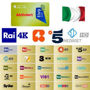 Original Tivusat Karte NEU Aktiviert SAT Hotbird 13°E RAI 4K HD TV Italienische