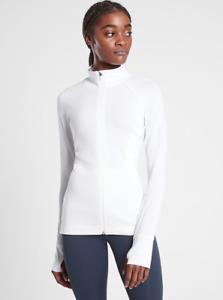ATHLETA Pacifica Illume UPF Full Zip XL in White | Beach Cover-up Jacket NWT XL