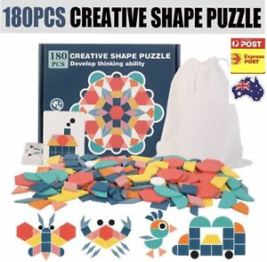 180PCS Wooden Creative Shape Puzzle Box Kids Toys Educational Dissection Game