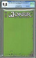 Joker 80th Anniversary Super 1 CGC 9.8 Scorpion Comics Sketch Edition Green 1500