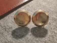 Disk Clip-On Earrings Vintage Sperry Goldtone Metal
