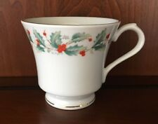 China Pearl Noel Pattern Christmas Holiday China Footed Coffee Tea Cup