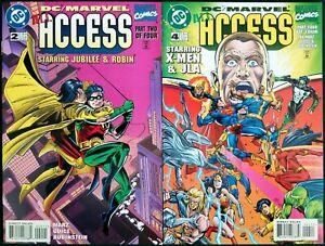 DC/Marvel: All Access (1996) #2, 4 DC Marvel Comics NM