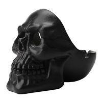 Creative Skeleton Head Skull Ashtray Resin Crafts Model Halloween Decor Black