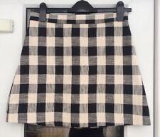 Topshop Black And White Check Mini Skirt Size 10