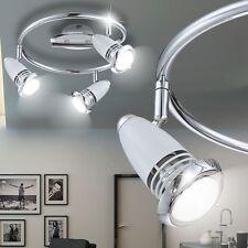 Plafonniers Lumière De Couloir Design Luminaire LED Spot Rondelle acier Chromé