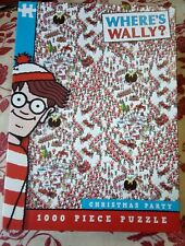 Where's Wally Christmas Party 1000 piece jigsaw puzzle Complete VGC Waldo Santas