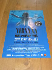 NIRVANA - NEVERMIND 20eme ANNIVERSAIRE !!!MEGA RARE FRENCH PROMO POSTER!!!!!!!!