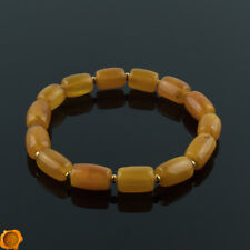 Rare Beeswax Luxury Baltic Amber Gold Adult Beaded Bracelet for Men Women