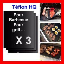 Tapis de Cuisson 40 x 33 cm Téflon HQ Barbecue Four grill  X 3