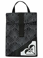 ROXY INSULATED COOLER SCHOOL LUNCH HOUR BAG SACK TOTE BLACK IN THE BREEZE