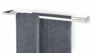 "Blomus Menoto Polished Towel Rail, 33"" Holder Rack Wall Mount Stainless Steel"