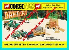 Corgi Toys Daktari Gift Set GS 7 GS 14 Vintage 1968 A4 Size Poster Sign Leaflet