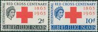 Gilbert & Ellice Islands 1963 SG80-81 Red Cross set MLH