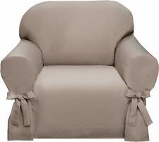 Madison Lucerne Sofa Chair Slipcover, Sand