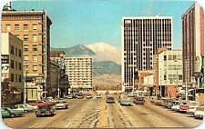 Postcard Pikes Peak Ave Stone Center Holly Sugar Colorado Springs Co Street View