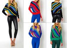 Damen Pullover Pulli Sweater Streifen S 34 36 elegant warm Rundhals Mode Fashion