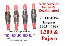 MITSUBISHI PAJERO SHOGUN 2.5 TD 4D56 NEW INJECTORS SET OF 4 Years 1986  To 1998