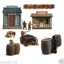 9 COWBOY Western Party Wall Decoration WILD WEST SHOOTOUT Add On Props