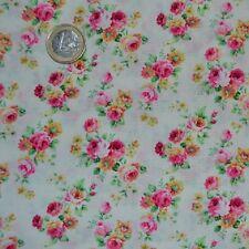 coupon de tissu patchwork shabby petits bouquets Tea Party 45x55cm