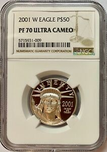 2001-W $50 Half-Ounce Platinum American Eagle NGC Proof-70 UC