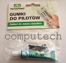 1 kit Accessori per riparazioni telecomandi RC-GUMSET 100 gommini + colla