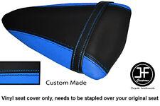 Luz azul y negro personalizado de vinilo cabe Kawasaki Ninja ZX6R 07-08 Cubierta de Asiento Trasero