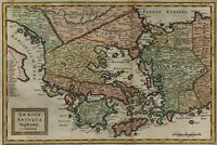 Ancient Greece Peloponnese Achaia Epirus Macedonia Asia 1700 Moll engraved map