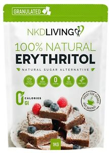 Premium Erythritol Zero Calorie Sweetener by NKD Living (Granulated)