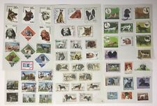 DOGS. 61 Postage Stamps, From Europe (Romania, Poland, Czech, Hungary) Used