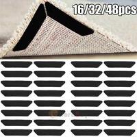 32/48x Reusable Rug Carpet Mat Grippers Anti Slip Rubber Grip Skid Tape Healthy