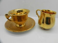ROYAL WINTON GRIMVADES GOLDEN AGE PATTERN PORCELAIN CUP & SAUCER AND CREAMER SET