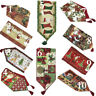 Tache Festive Winter Holiday Christmas Xmas Woven Tapestry Table Linen Runners