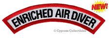 New listing ENRICHED AIR DIVER CHEVRON SCUBA DIVING iron-on DIVE CERTIFICATION PATCH NITROX