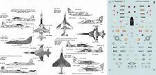 MICROSCALE DECALS 172 A-4/TA-4J Skyhawk F-5E Tiger NFWS VF-126 VA-127 (USN/USAF)