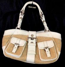 12948b3ce443 Prada Purse Straw And White Leather Medium Sized Pockets Outside