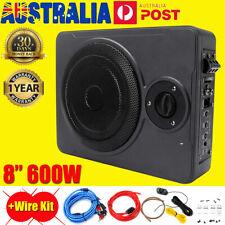 8'' 600W Car Subwoofer and Amp Active Amplifier Under Seat Slim Speaker Kits