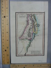 Rare Antique Orig VTG Leavitt Lord Co. Canaan Book Of Genesis Map Engraved Print