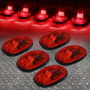 FOR 02-18 DODGE RAM TRUCK 5PCS RED LENS LED CAB ROOF TOP MARKER RUNNING LIGHT