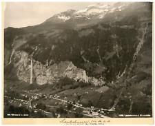 Suisse, Lauterbrunnen, Schröder & Cie. Zürich vintage albumen print, Suisse Ph